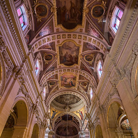 Gozo Cathedral, Malta. by Simon Page - Buildings & Architecture Places of Worship