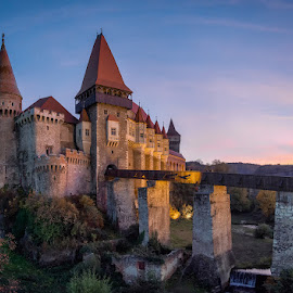Corvin Castle by Ioana Rusu - Buildings & Architecture Public & Historical ( tower, fortress, sunset, fortification, castle, fort, fortified,  )
