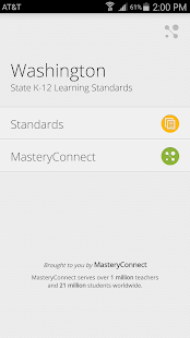 Washington Learning Standards - screenshot