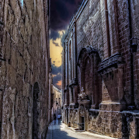 Down the Alley by Lino Chetcuti - Buildings & Architecture Public & Historical