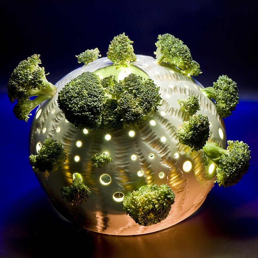 Happy Broccoli Day by Ryan Li - Products & Objects Technology Objects ( product, plant, creative, lighting, funny, broccoli, object, vegetable, innovative, photography )