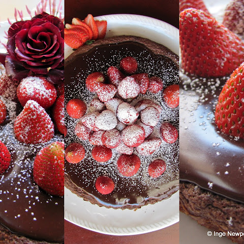 Almond Chocolate Tart & Strawberries