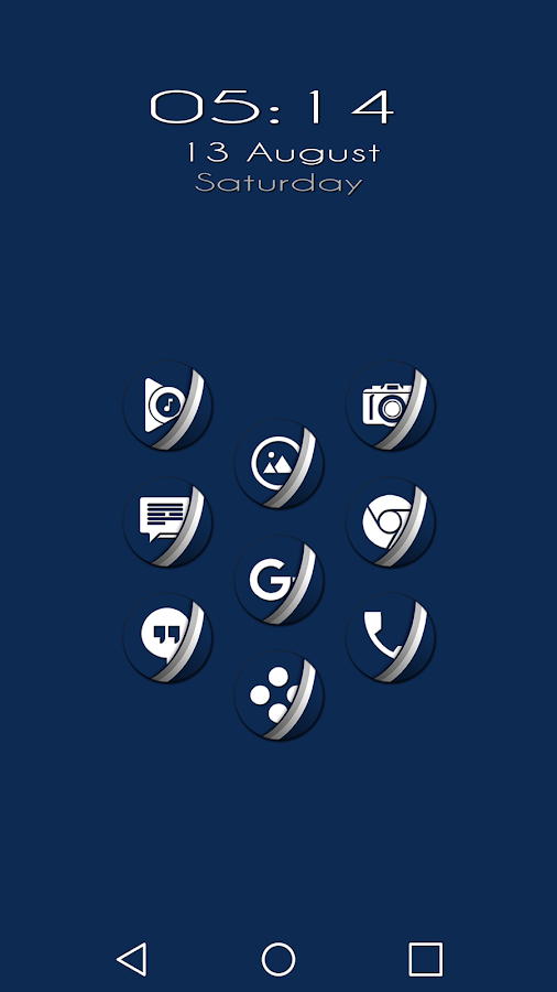 Naz Dal Blue - Icon Pack Screenshot 0