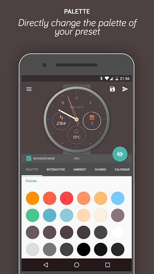 Pujie Black Android Wear Watch Face Designer Screenshot 2