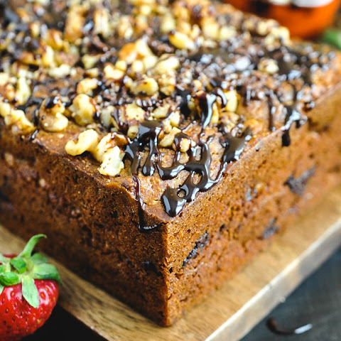 Walnut Chocolate Chunk Caramelized Banana Bread