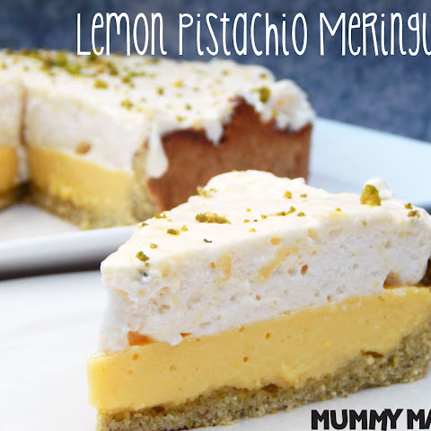 Lemon Pistachio Meringue Pie