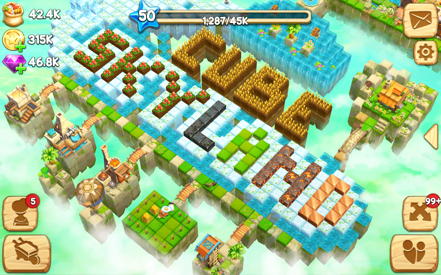 Cube Skyland: Farm Craft Screenshot 5