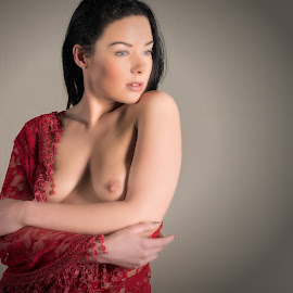 Demour by Colin Dixon - Nudes & Boudoir Artistic Nude ( red, nude, topless, cloth, breasts, women )