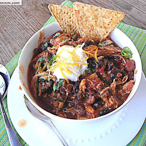 For more ways to serve this healthy mole, try these ideas: leave the chicken on the bone and serve with the sauce over brown rice; serve the shredded chicken on buns with creamy coleslaw; or stir vegetables and a can of rinsed beans into the saucy shredded chicken to make chili.