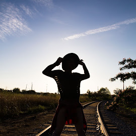 Where do you stand? by Marcus Dorsey - People Fashion ( natural light, railroad tracks, fashion, beauty, people )