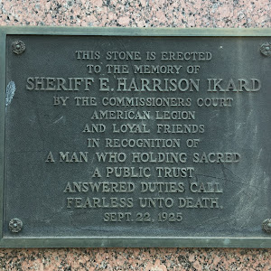 The plaque text: