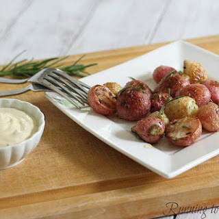 Salted Rosemary Roasted Radishes