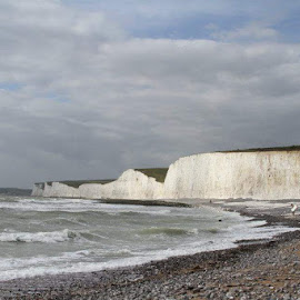 Southern England Coast by Amanda Watson - Landscapes Beaches ( chalk, england, dover, cliff, beach )