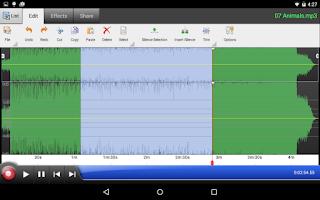 Screenshot of WavePad Audio Editor Free