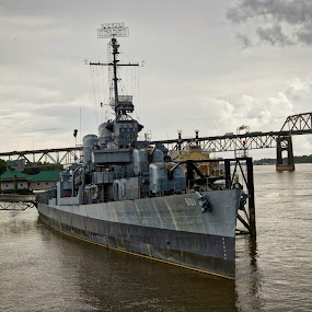 the USS Kidd by Tiffany Matt - Transportation Boats