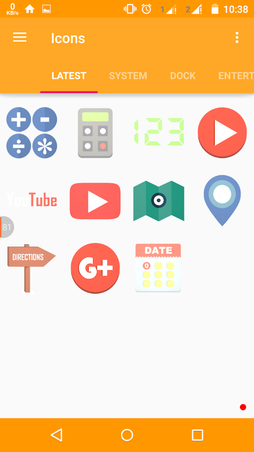 Stock-Icons Icon Pack/Theme Screenshot 2