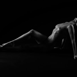 Cheryl by Vincent Yates - Nudes & Boudoir Artistic Nude ( pose, nude, black and white, artistic nude, shadows,  )