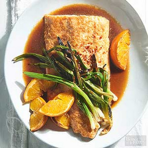 Orange Salmon & Green Onions