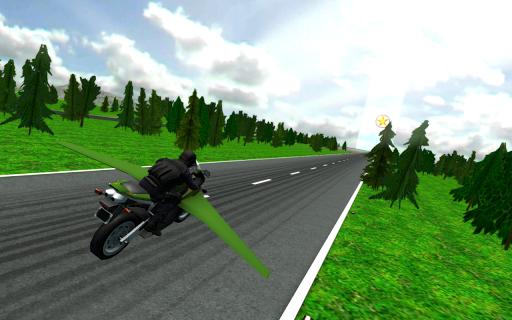 Flying Police Moto Bike SIM - screenshot