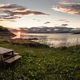 Sunset in Norway by Birgitta Hammarkvist - Landscapes Sunsets & Sunrises