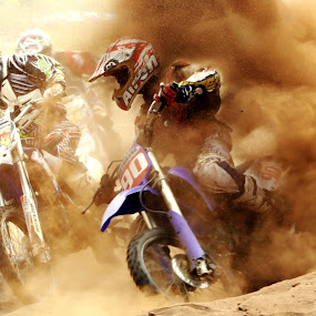 Cross The Dust by Dwi Cipta - Sports & Fitness Motorsports ( champion, extreme, automotif, sirkuit, fight, engine, speed, spo, sports, race, people, motocycle, motocross, balap, racing, outdoor, action, dirty, competition )