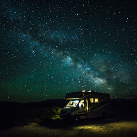 Night Travel by Andrea Cansler - Landscapes Starscapes