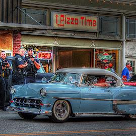 by Karen McKenzie McAdoo - City,  Street & Park  Street Scenes