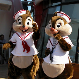 Disney's Chip 'N Dale by Debbie Salvesen - People Musicians & Entertainers ( music, dancing, mexico, chipmunks, disney cruise, fun, disney, fantasy, red nose, chip 'n dale, vacation, magical, family, laughter,  )