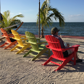 Waiting for sunset by Gwen Paton - Artistic Objects Furniture ( beach chairs, florida, key largo,  )