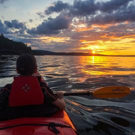 Bar Harbor - Sunset Kayaking by Eric Nielsen - Instagram & Mobile iPhone