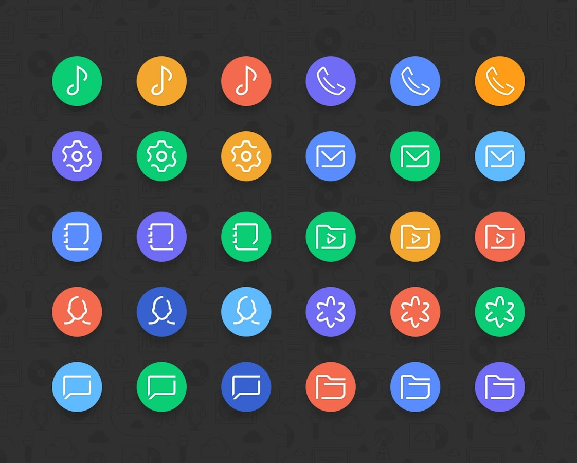 Delux UX Pixel - S8 Icon pack Screenshot 3