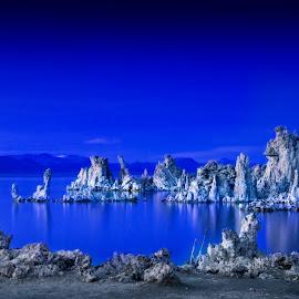 Mono Blues by Ken Smith - Landscapes Travel ( mono lake, twilight, landscape )