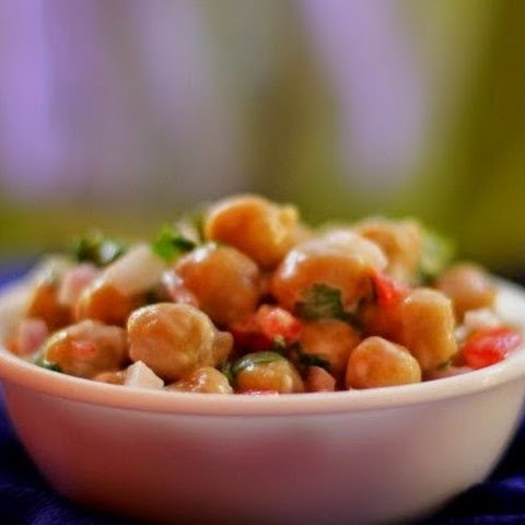 Indian Style Chickpea Salad With Spiced Yogurt Dressing