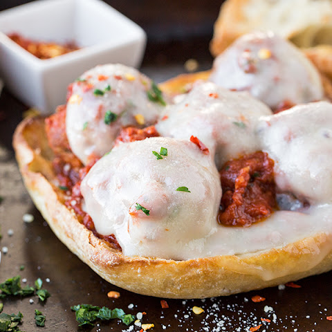 Italian Meatball Sandwich on Garlic Ciabatta