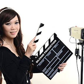 Friska with Clapperboard 2 by Silvano Baru - People Fashion