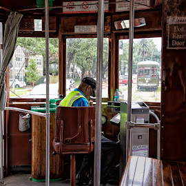 New Orleans trolley by Ralph Bridgland - Transportation Other ( new orleans, trolley, louisiana, historic district, transportation,  )