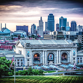 by Jackie Eatinger - City,  Street & Park  Skylines ( kansas city, taps, liberty memorial )