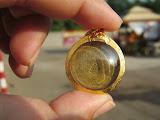 เหรียญสลึงหลวงพ่อพรหม ปี14โค๊ตระฆังพร้อมเลี่ยมทองคำแท้