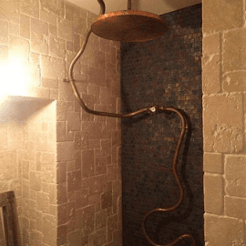 Paris meets London theme, custom wet room and shower pipework in Wardington - Oxfordshire