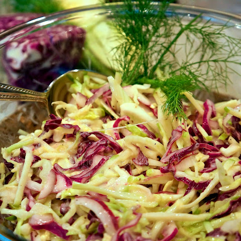 Cabbage-Fennel-Apple Slaw