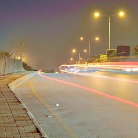 by Tahir Sultan - City,  Street & Park  Street Scenes ( #longexposure#nikon#streetlights )