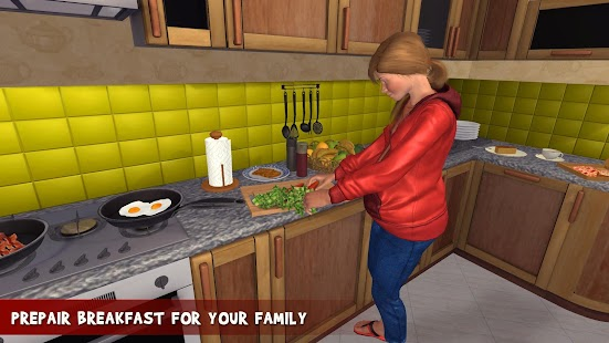 Virtual Family Pregnant Mom: Happy Family Game