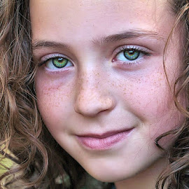 Natural Beauty by Sandy Considine - Babies & Children Child Portraits ( green eyes, brown hair, curly hair )
