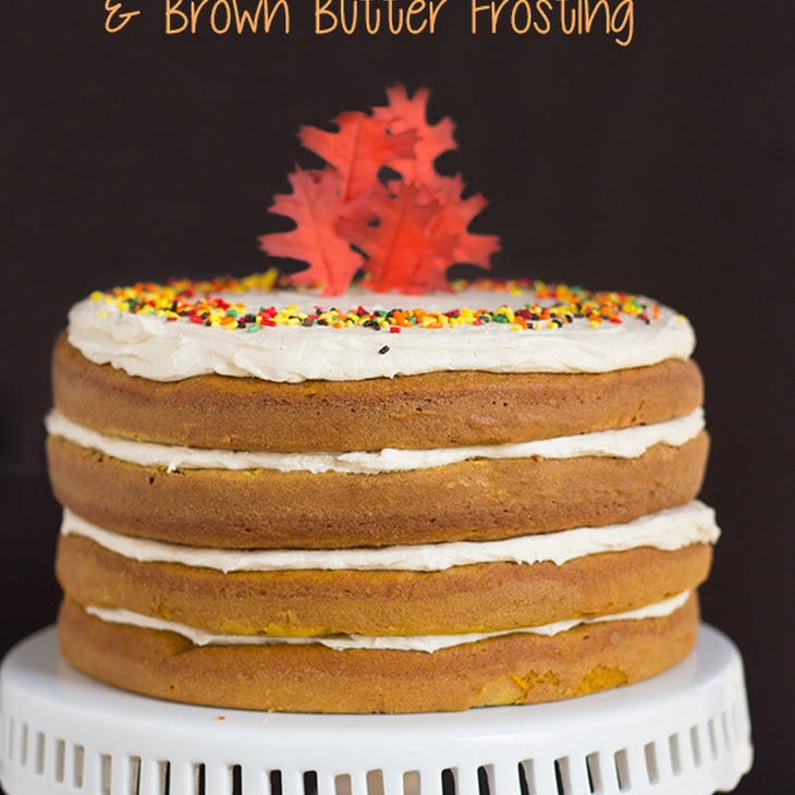 Pumpkin Spice Cake with Brown Butter Frosting Recipe | Yummly