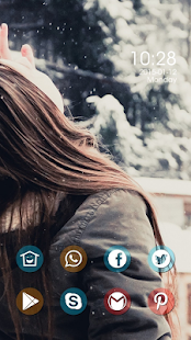 Fresh blond girl theme - screenshot