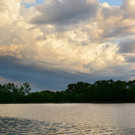 Storms A Coming by Cindy Cooper Houser - Landscapes Weather ( water, clouds, waterscape, cloud, weather, lake, storms, storm, landscape )