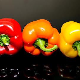 Red,Orange and Yellow by Sanjeev Kumar - Food & Drink Fruits & Vegetables