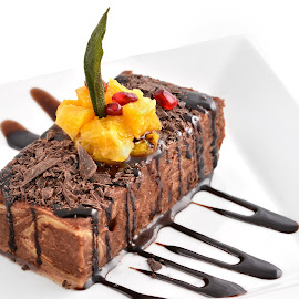 Chocolate cake by Sorin Petculescu - Food & Drink Candy & Dessert ( cake, chocolate, desert, sweet, contest, brown )