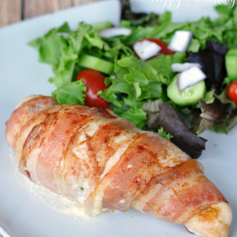 Bacon Wrapped Jalapeño Popper Stuffed Chicken Breasts