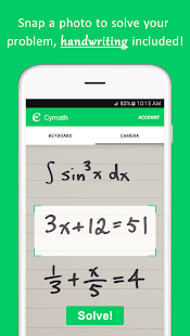 App Cymath - Math Problem Solver apk for kindle fire